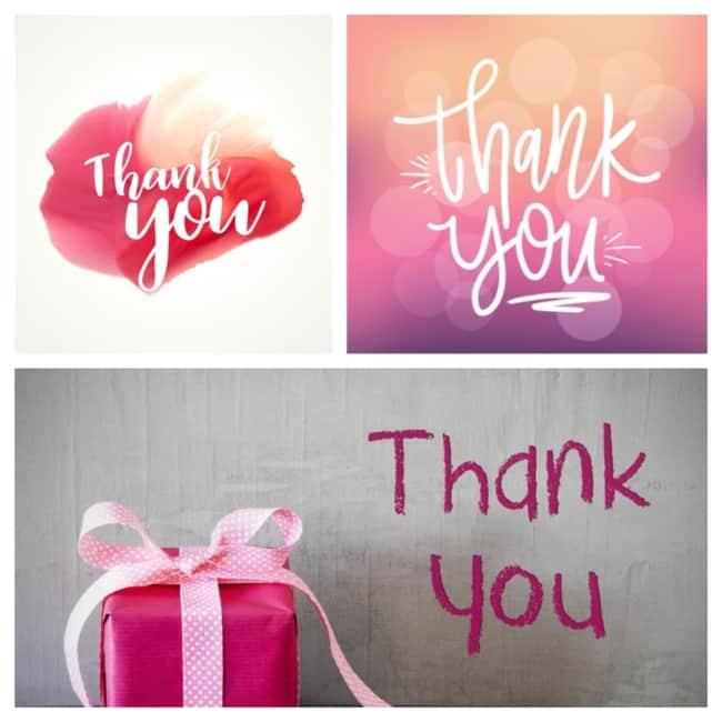 Mensagens de agradecimento