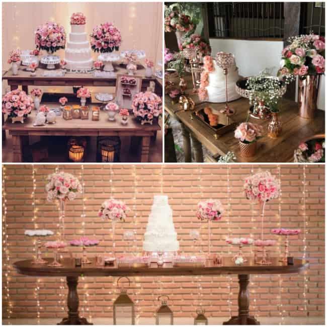 Mesa de bolo rose