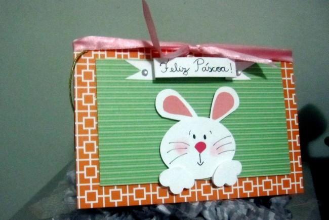 Outro tipo de cartão de páscoa artesanal de coelhinho