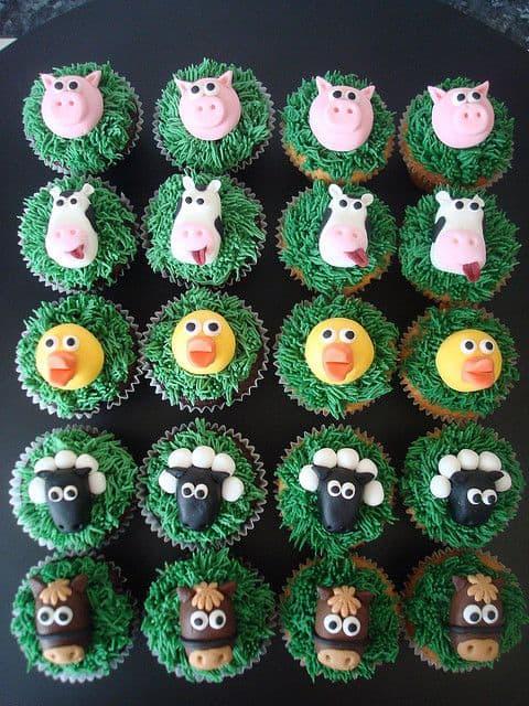 Tipo de cupcake fazendinha para sua festa