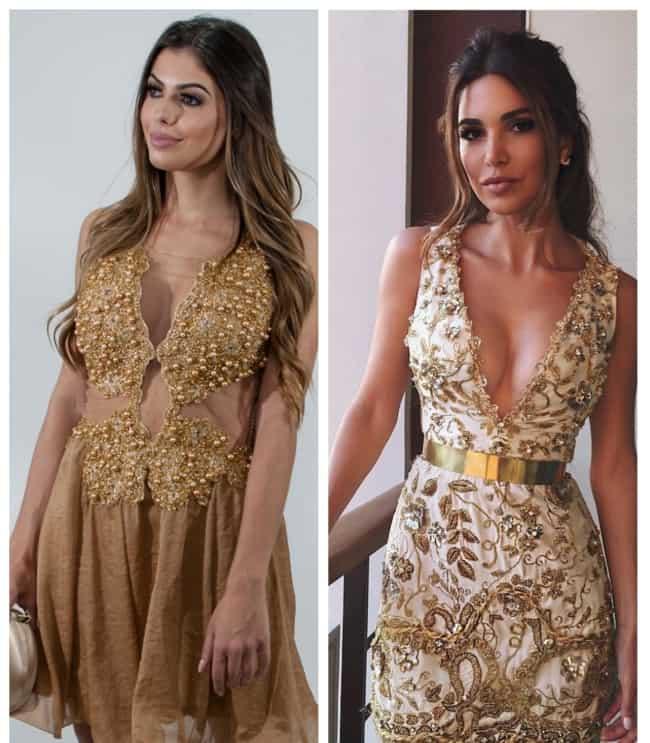 Vestido de Madrinha Dourado Curto 1