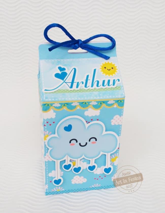 caixa milk chuva de amor azul