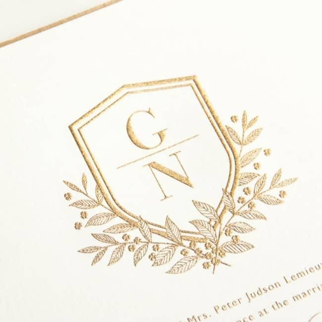 como fazer Brasão de casamento dourado