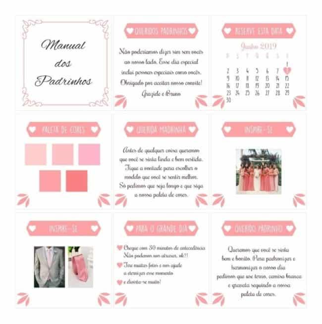 como fazer Manual dos padrinhos rosa
