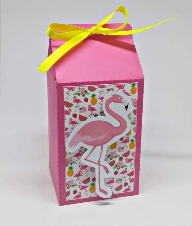 como fazer uma caixa milk flamingo