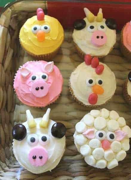 cupcake fazendinha de bichinho para festa