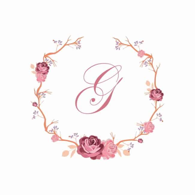 ideias de Brasão de casamento rose