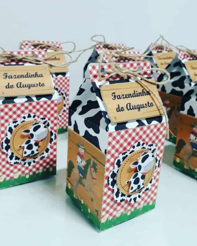 ideias de Caixa milk Fazendinha