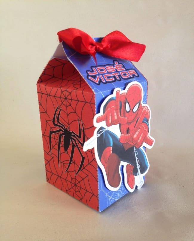 ideias de Caixa milk Homem Aranha
