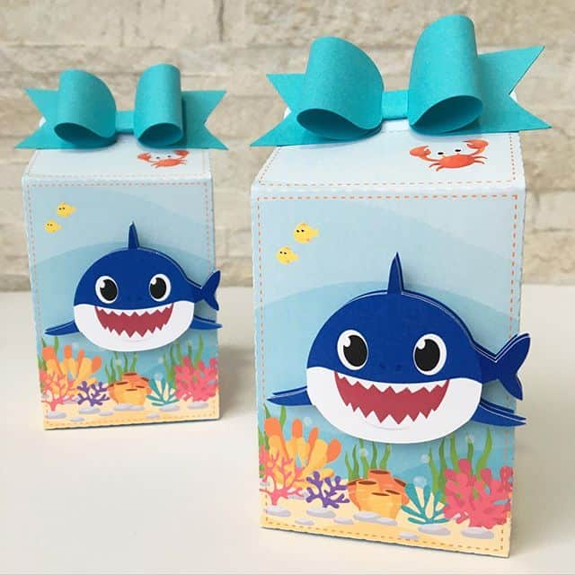 ideias de caixa milk baby shark