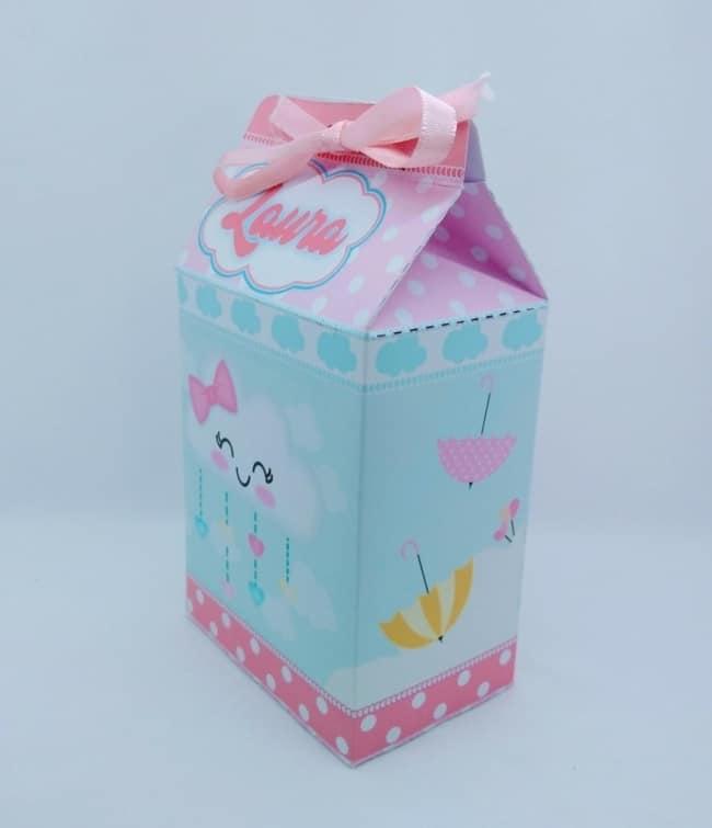 ideias de caixa milk chuva de amor