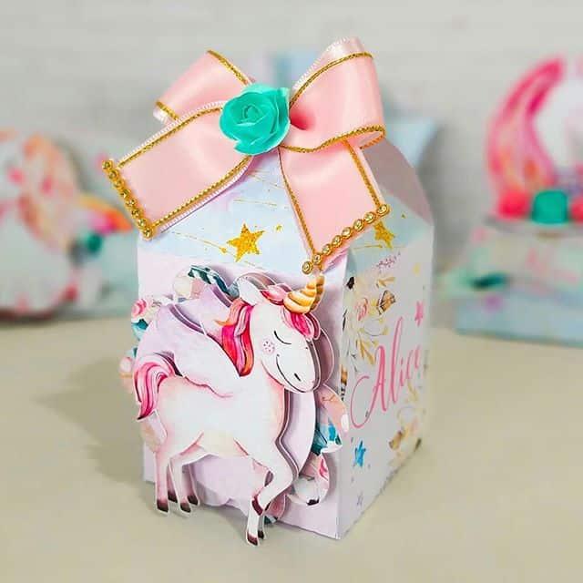 ideias de caixa milk unicornio