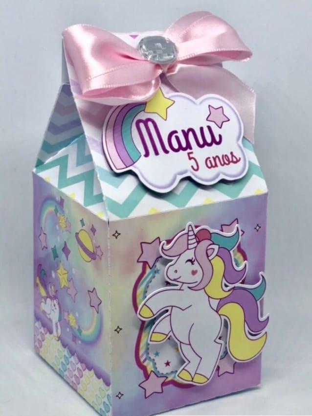 linda caixa milk unicornio