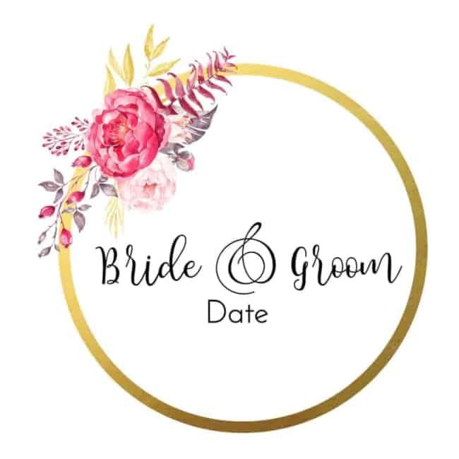 lindo Brasão de casamento com flor