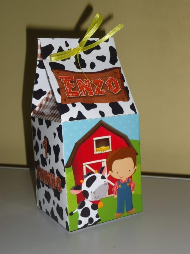 modelo de Caixa milk Fazendinha