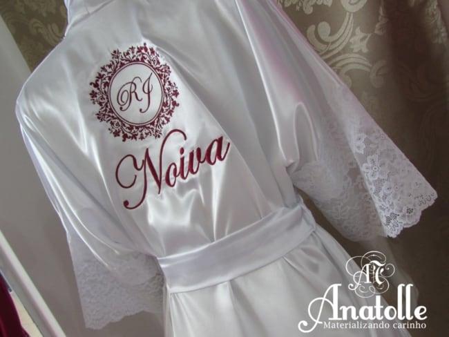 robe da noiva com brasão