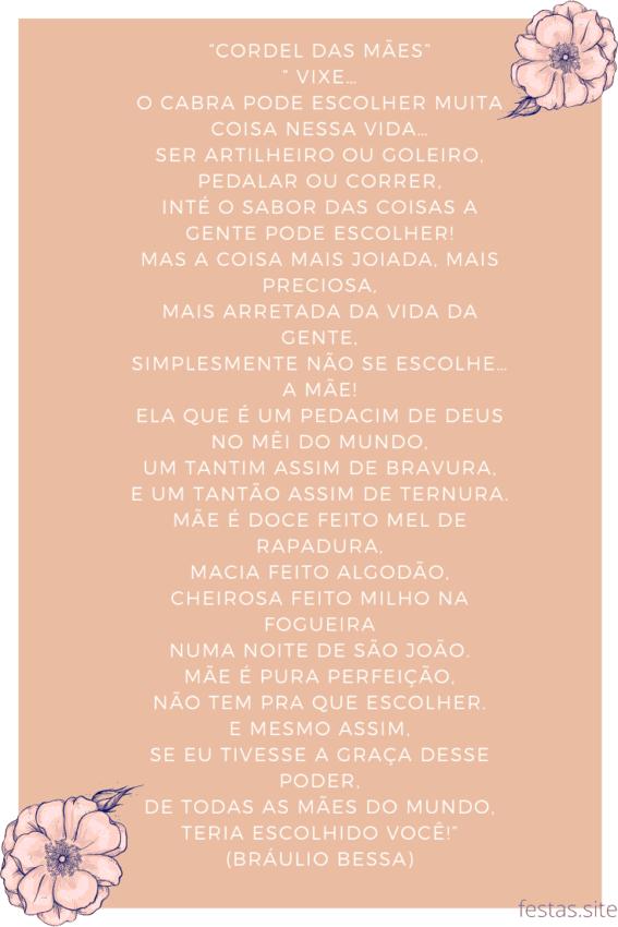 poema especial de dia das mães