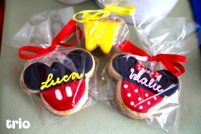 Biscoito decorado do Mickey