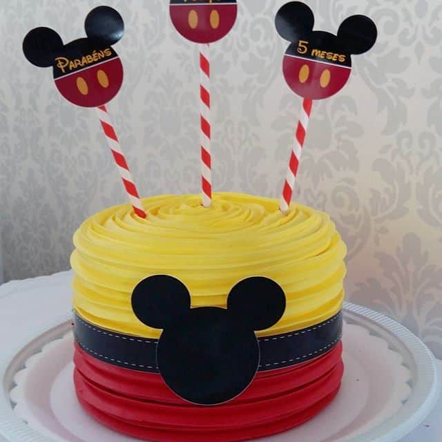 Bolinho de 5 meses do Mickey