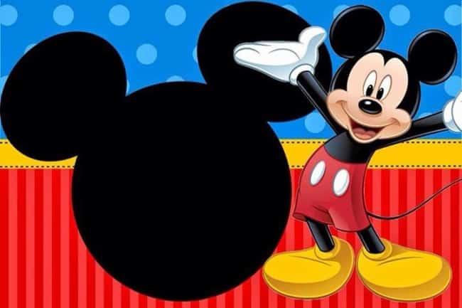 Convite do Mickey para imprimir