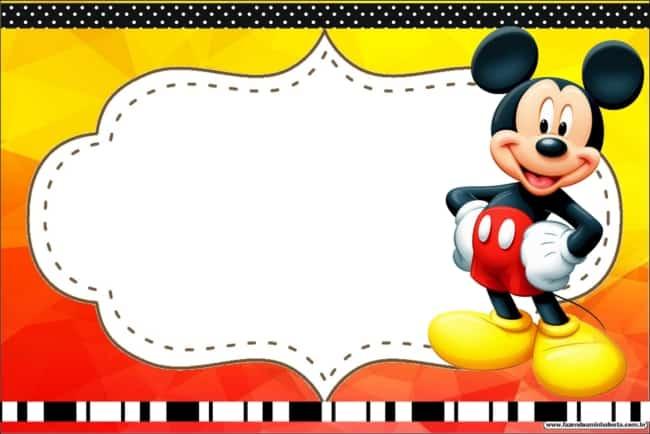 Convitinho para mesversário Mickey