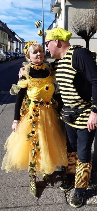 Dica de fantasia para casal de abelha e girassol