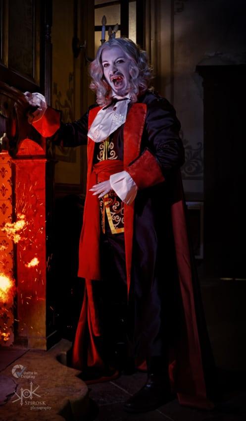 Fantasia de Drácula masculina luxo