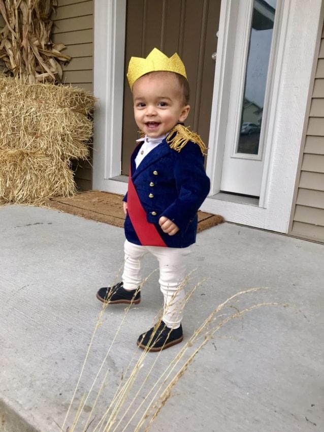 Fantasia de pequeno príncipe para bebê