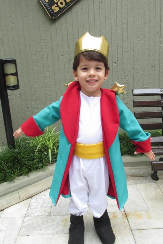 Fantasia de pequeno príncipe simples