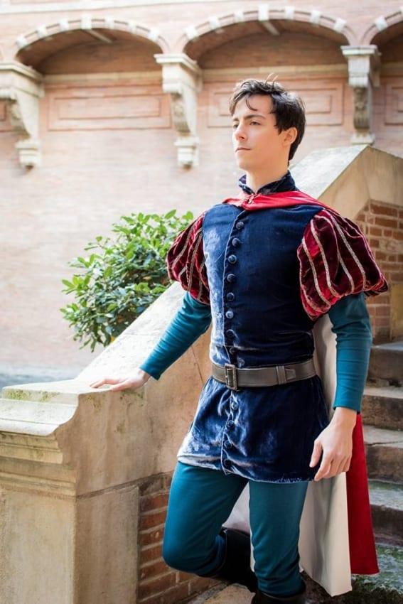 Fantasia de príncipe luxo