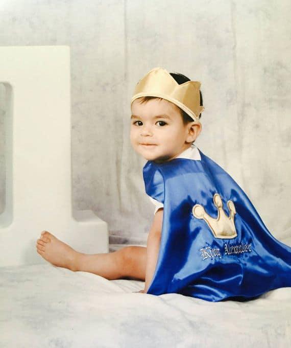 Fantasia de príncipe para bebê simples