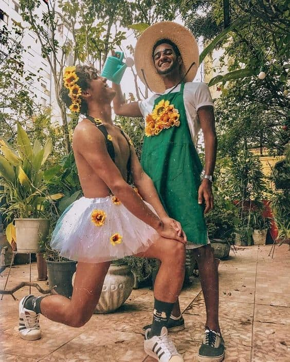 Fantasias divertidas de girassol para curtir o Carnaval