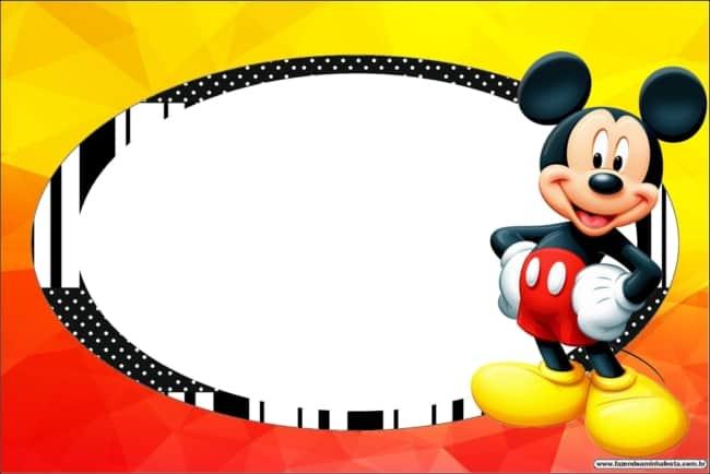 Ideia de convite para mesversário do Mickey