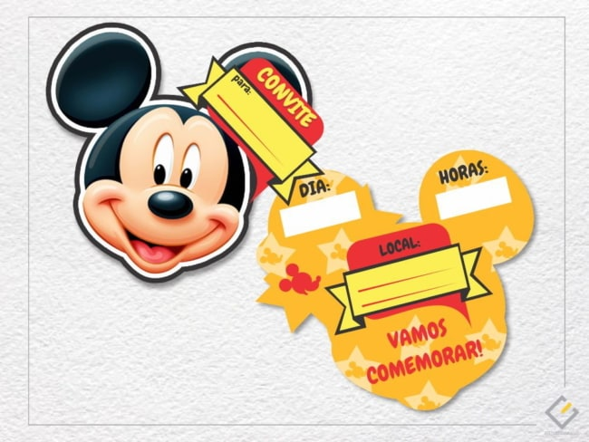 Outro tipo de convite Mickey