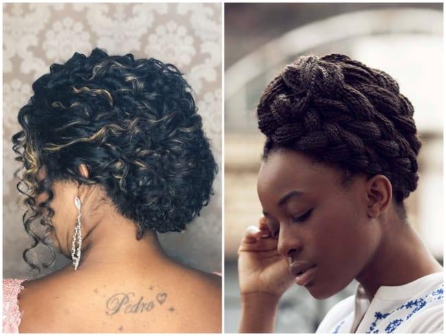 Penteados para mãe da noiva afro