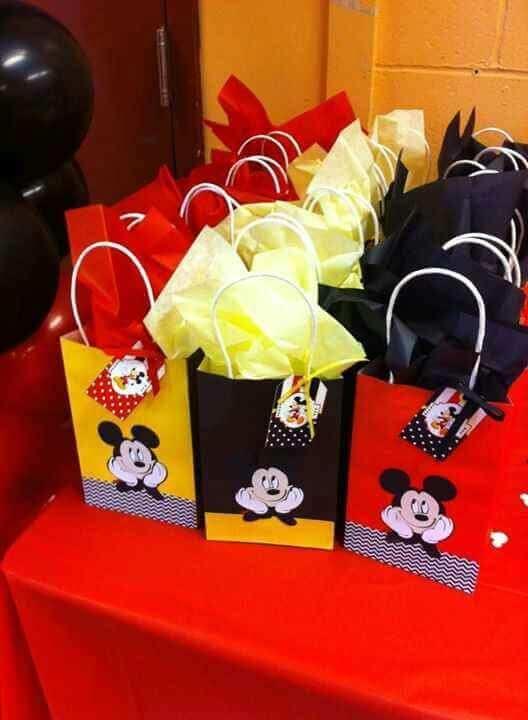 Sacolinhas do Mickey para lembrancinhas de meversário