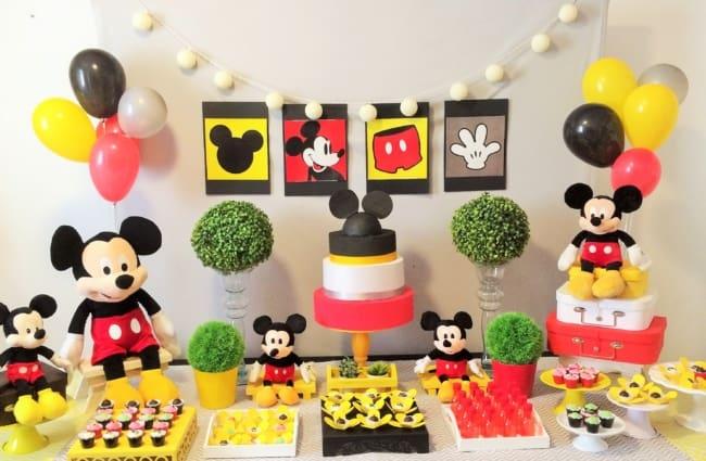 Sugestão de como decorar mesversários do Mickey