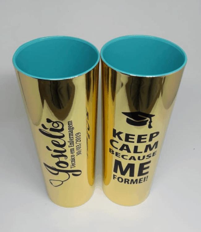 copos para formatura de enfermagem