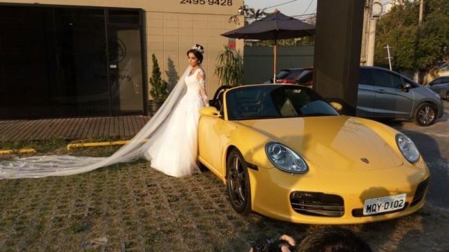 porsche amarelo para casamento