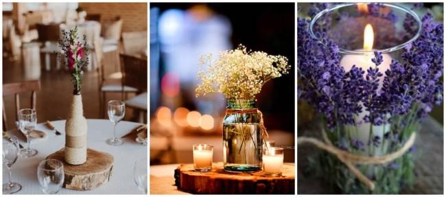 12 ideias DIY para centro de mesa de casamento
