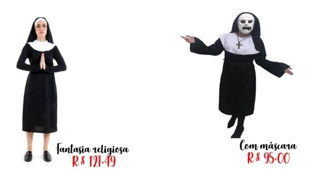 modelos e preços fantasia de freira