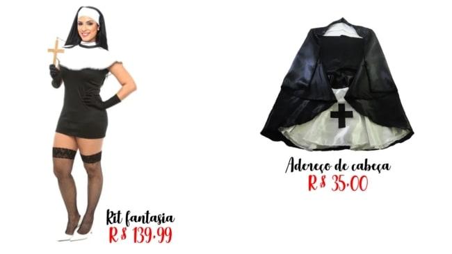 dicas de onde comprar e preços de fantasia de freira