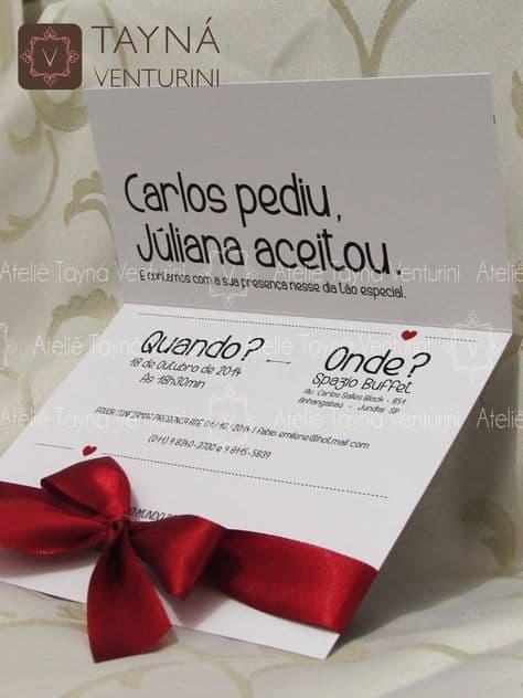 convite de casamento para casais modernos