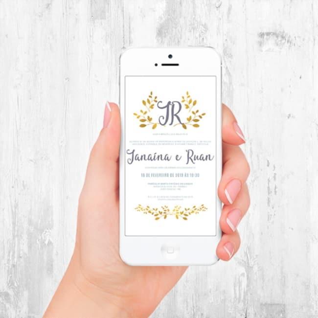 convite digital simples e bonito