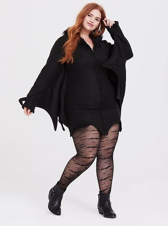 fantasia feminina de morcego para Halloween