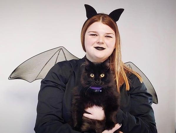 fantasia feminina de morcego com asas