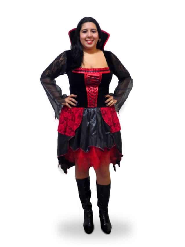 fantasia feminina plus size de vampira