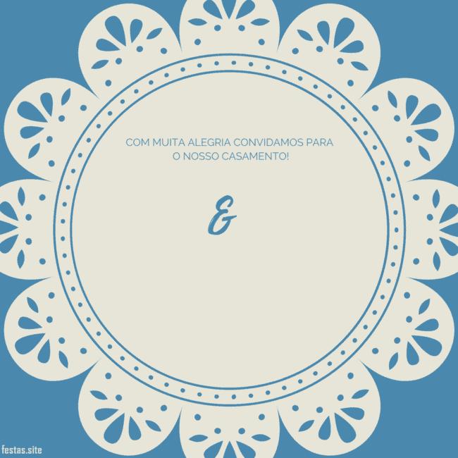 convite de casamento azul para imprimir grátis