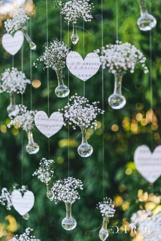 decoração simples e DIY para casamento