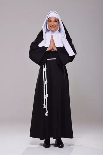 fantasia de freira completa com hábito longo